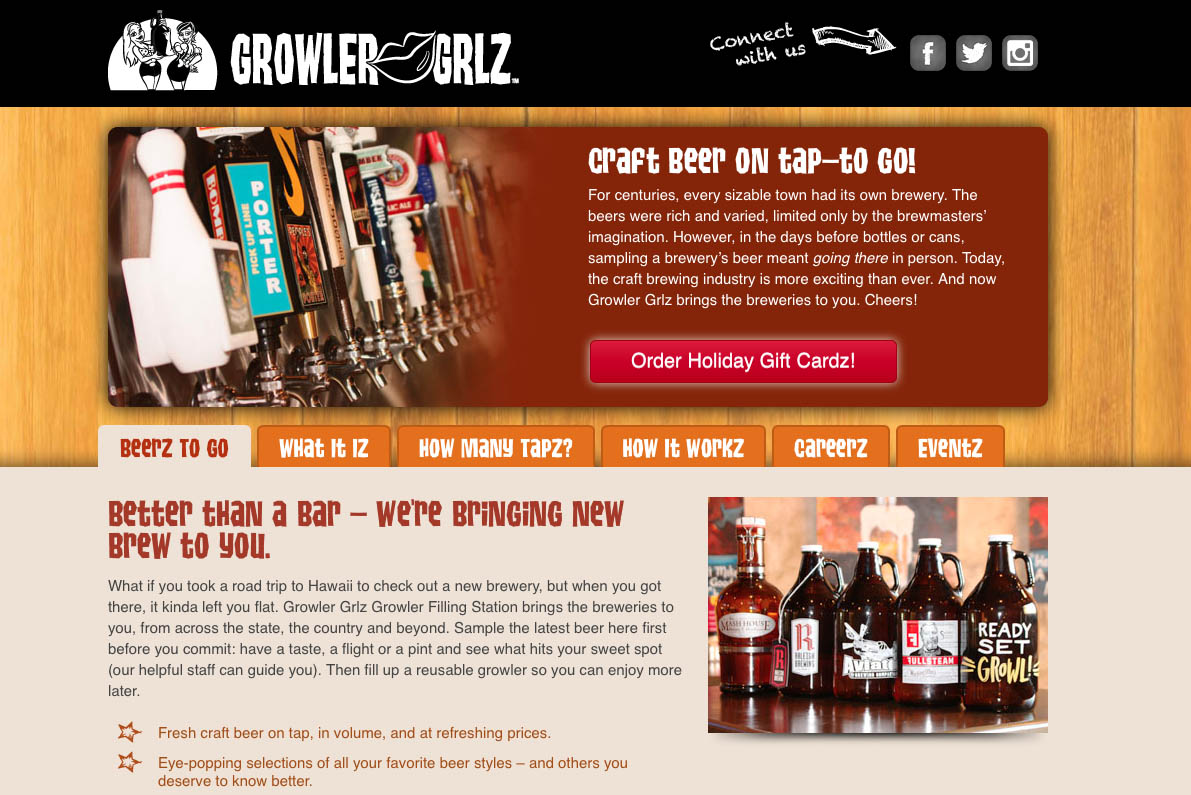 Generous jugs and 42 taps: that's Growler Grlz