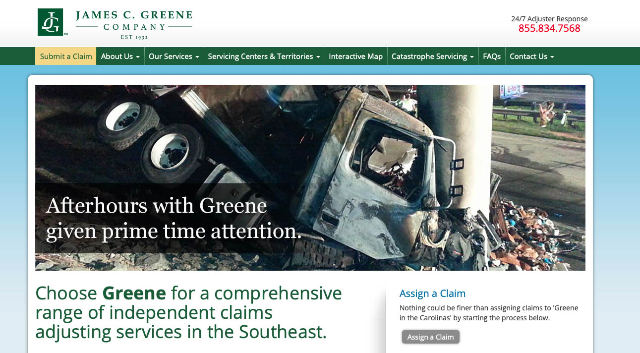 New website relies heavily on Greene