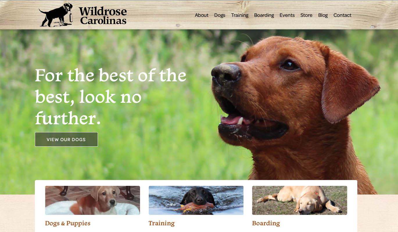 Wildrose Carolinas website goes to the dogs